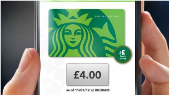 Pagar con el móvil en Starbucks de Reino Unido