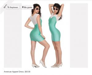 Vender en Pinterest colocando el precio del modelo junto al producto