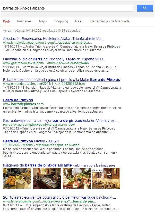 imágenes en las Serps de Google