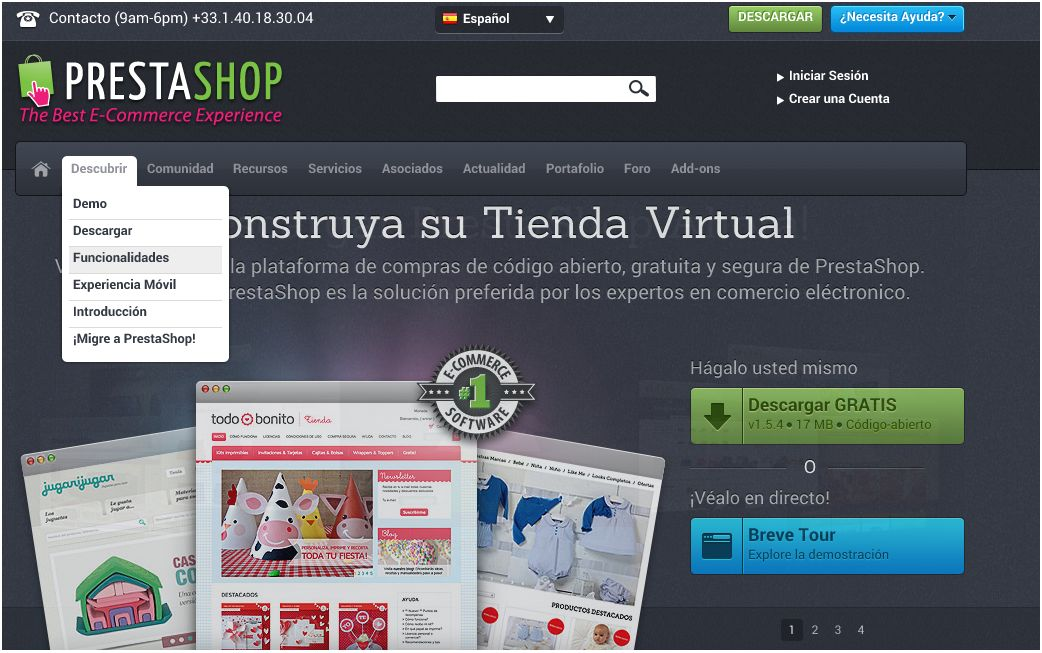 Plataforma de e-commerce Prestashop