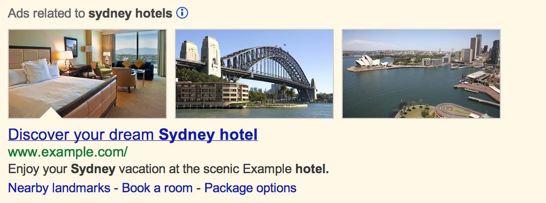 extensión de imágenes en Adwords, anuncios de texto