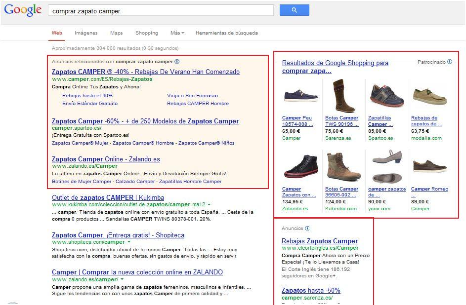 Google Shopping: anuncios de productos en Google Adwords
