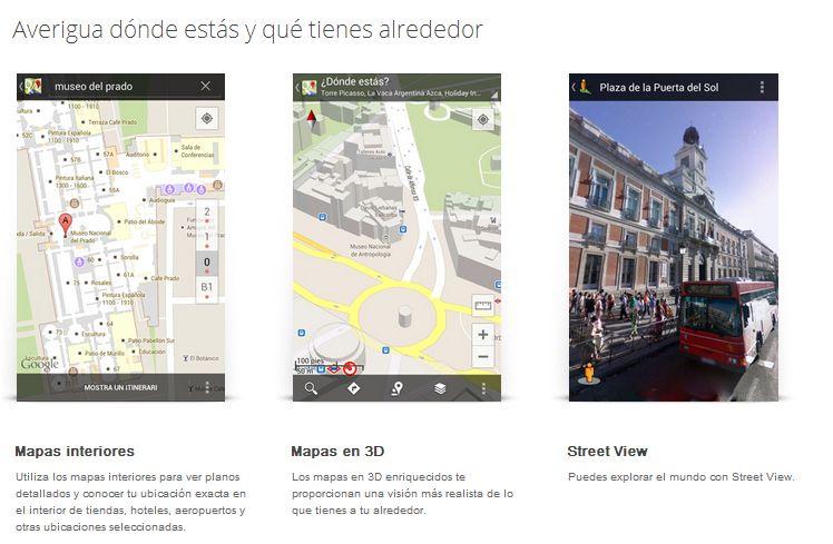 Nuevo Google Maps qué tienes a tu alrededor