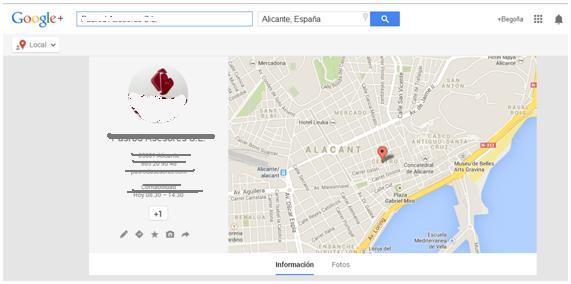 Ejemplo Google Places for Business
