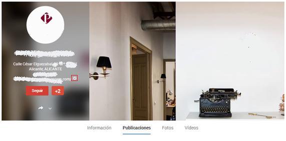 Perfil de Empresa en Google Plus
