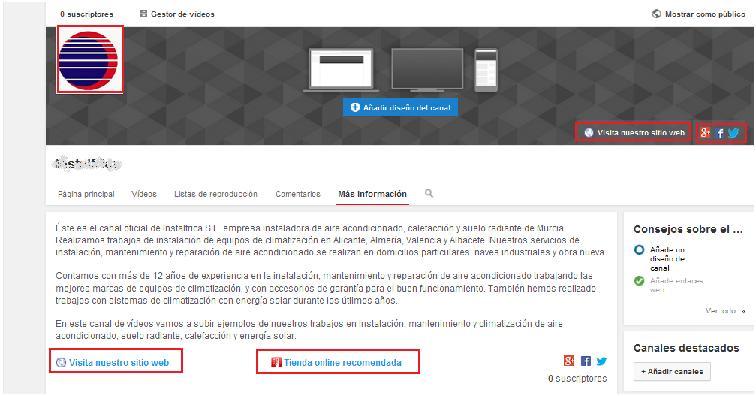 crear canal youtube de empresa
