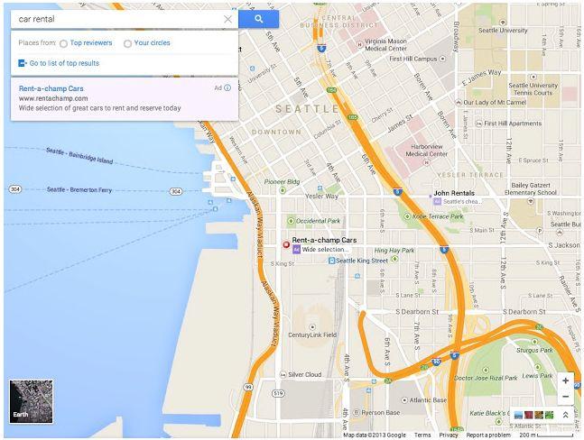 Nuevo Google Maps, anuncios más relevantes